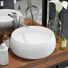 Washroom or powder room. This round wash basin, made of premium ceramic. This artistic ceramic basin. Ceramic Basin Round Sink White Specification In addition, the basin is easy to clean. Its glazed surface brings itself. Wall Mounted Bathroom Sinks, Vessel Sink Bathroom, Bathroom Faucets, Bathroom Storage, Countertop Basin, Basin Sink, Countertops, Modern Ceramics, White Ceramics