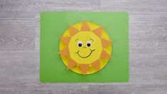 Sun & Moon Craft - Finished Sun Paper Plate Crafts, Paper Plates, Moon Crafts, Pencil Eraser, Interactive Art, Moon Shapes, Montessori Activities, Blue Plates, Yellow Painting