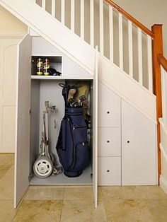 There are so many ways to use the space under the stairs!