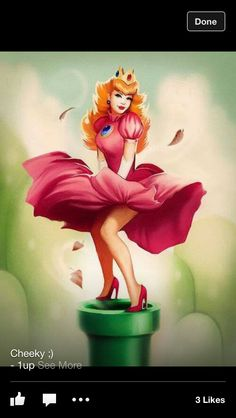A Princess Mario/Monroe style