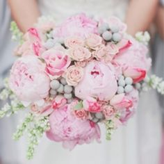 Romantic Pink and Grey Wedding