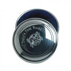"Pewter First Tooth Box 3"" diameter by Salisbury Fine Metal Artisans"
