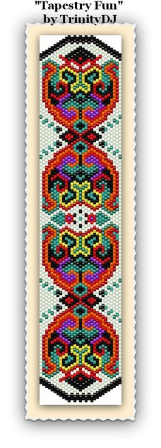 """New fun pattern in my Etsy shop: """"Tapestry Fun"""" - Odd Count Peyote Stitch - Please follow this link for more info: https://www.etsy.com/listing/160574879/bp-fun-041-tapestry-fun-odd-count-peyote"""
