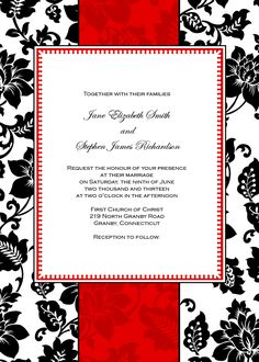 FREE PDF Download. Art Deco Background Wedding Invitation. Template is very easy to edit and print at home.