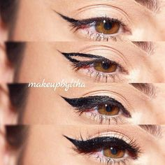 How to Apply Eyeliner for Beginners picture 4 – Make Up Time Eyeliner Hacks, Eyeliner Styles, Eyeliner Ideas, Make Up Geek, How To Use Eyeliner, Perfect Eyeliner, Perfect Lipstick, Eyeliner For Beginners, Makeup Tips For Beginners