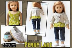 """Penny Lane Jacket 18"""" Doll Clothes"""