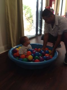 One year old birthday party ideas: Ball pit!