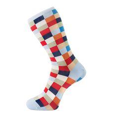 Check Light Blue Sock - Fortis Green's The 'Beeman'