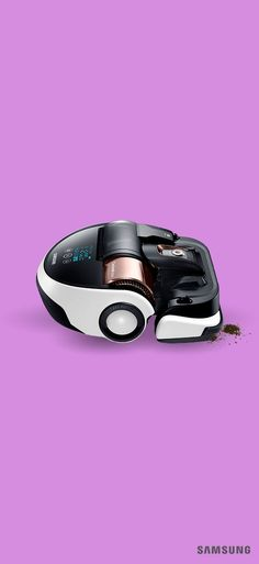 Relax while the Samsung POWERbot VR9000 vacuums for you. This hands-free robotic vacuum cleaner is compact and easy to store. Its onboard camera and ten individual sensors enable it to easily navigate your home, while automatically adjusting for floors and carpets. Its Cyclone Force system separates dirt and debris while maintaining powerful suction. Missed a spot? No problem. Simply point the remote control's light beam at the area, and POWERbot will find and clean it.