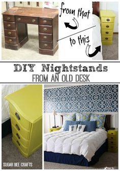 40 Clever DIY Furniture Hacks One of the best things about being a creative DIYer is taking somethin Diy Furniture Hacks, Furniture Projects, Furniture Making, Furniture Makeover, Furniture Stores, Furniture Shopping, Cool Nightstands, Diy Nightstand, Refurbished Furniture