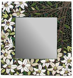 White Lily Mosaic Mirror by Forestmosaic.deviantart.com on @DeviantArt