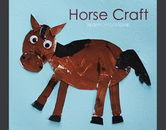 horse craft - my youngest will love this!