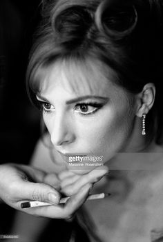Photo d'actualité : French singer Mylene Farmer on the set of her...