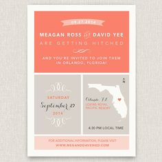 Wander  Modern destination wedding invitation by papertalkpress, $4.00