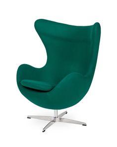Fotel Jajo szmaragdowy zielony insp. proj. Egg Chair