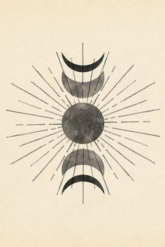 Boho Sun And Moon - Canvas Print