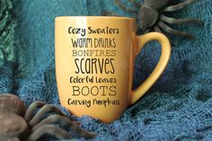 Fall Mug - Fall Activities Mug - Autumn Mug - Halloween Mug - Coffee mug - Vinyl Mug