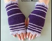 "Mitaines crochetées main ""Sweet Purple"" : Mitaines, gants par mamountricote"
