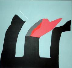 Hans Landsaat (1935-) Vulcanisch stil bij storm (1984), olieverf, 130 x 110