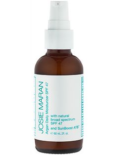 Natural wonders: Josie Maran Argan Daily Moisturizer SPF 47 hydrates, brightens, and offers major sun protection