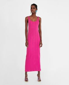 Image 1 of LONG RIBBED DRESS from Zara