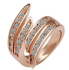 Rose Gold Plated Crystal Finger Rings Alloy by amirulhusna55, $4.50