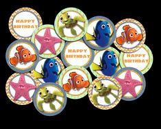 Finding Nemo Cupcake Toppers Finding Nemo, Preschool Worksheets, Party Printables, Cupcake Toppers, Your Design, Card Stock, Alphabet, Vibrant Colors, Banner