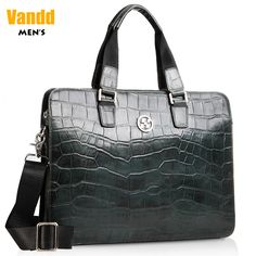 Aliexpress.com : Buy Vandd New Men's Crocodile Embossing Dark Green Briefcase Tote Handbag Fashion Business Messenger Bag Zipper from Reliable eyebrow piercing shop suppliers on Vandd Men. $204.00
