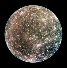 Callisto (moon):Callisto (Jupiter IV) is a moon of the planet Jupiter. It was discovered in 1610 by Galileo Galilei. It is the third-largest moon in the Solar System and the second largest in the Jovian system, after Ganymede, and the largest object in the Solar System not to be properly differentiated.