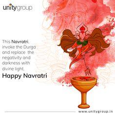 Navratri Greetings, Happy Navratri Wishes, Happy Navratri Images, Navratri Festival, I Love You God, Lord Ganesha Paintings, Durga Images, Divine Light, Durga Puja