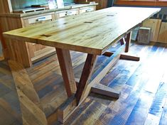reclaimed wood dining room Table | conference dining table the top of this table is made of antique ...