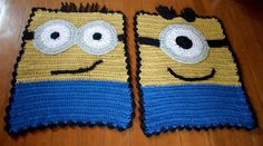 Tapetes Criativos: TAPETES CASAL MINIONS