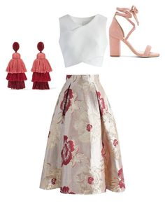 """""""Pretty in Pink"""" by kadoesie1 on Polyvore featuring Chicwish, Oscar de la Renta and Raye"""