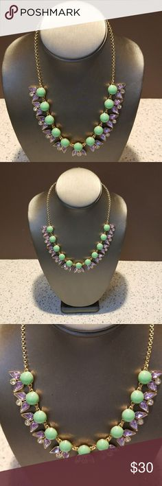 J.CREW GORGEOUS NECKLACE NEW WITHOUT TAGS STUNNING J.CREW LAVENDER AND MINT GREEN WITH CLEAR CRYSTALS NECKLACE NEW WITHOUT TAGS!!!   HAPPY NEW YEAR TO YOU AND YOURS, POSHERS!!! J. Crew Jewelry Necklaces