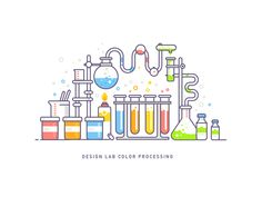 Science Lab Vector illustration that can be used for web and mobile or for any other projects.