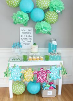 Turtle First Birthday Party