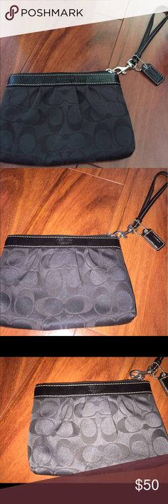 Black Coach Wristlet Black Coach Wristlet Coach Bags Clutches & Wristlets