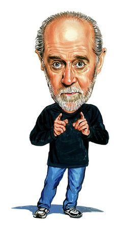 Celebrity Caricatures And Famous People | George Carlin .