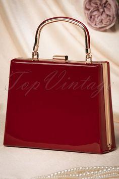La Parisienne Lacquer Handbag in Red 212 20 22264 20170620 Small Handbags, Women's Handbags, Kelly Bag, Discount Shopping, Fashion Shoes, Women's Fashion, Vintage Handbags, Hermes Kelly, Retro Vintage
