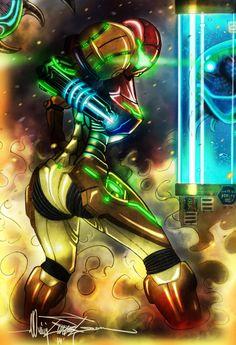 Samus Aran - Metroid Hunter by BlitzJaeger.deviantart.com on @deviantART