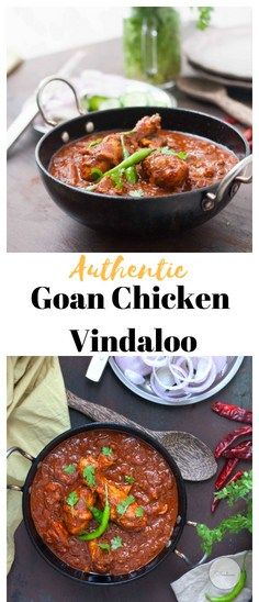 Authentic Recipe of the World Famous fiery Goan Chicken Vindaloo recipe cooked with Chillies,Tamarind,Vinegar & Jaggery. Goan Recipes, Curry Recipes, Indian Food Recipes, New Recipes, Vegetarian Recipes, Chicken Recipes, Dinner Recipes, Ethnic Recipes, Lamb Recipes