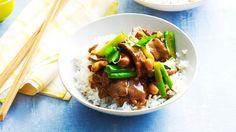Lamb and cashew stir-fry