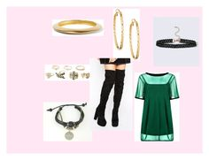 """""""wow2"""" by maybejustonetear ❤ liked on Polyvore featuring Charlotte Russe, Boohoo, Kenneth Jay Lane, Panacea and Daisy Street"""