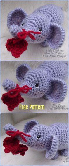 Crochet Amigurumi Little Elephant Free Pattern - Crochet Elephant Free Patterns