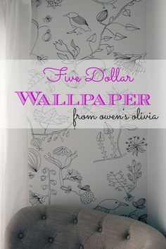 AMAZING! all you need is a projector and a sharpie! owens olivia: $5 wall treatment || tutorial