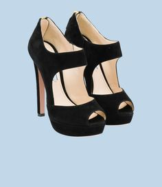 Prada Suede Open-Toe Pump