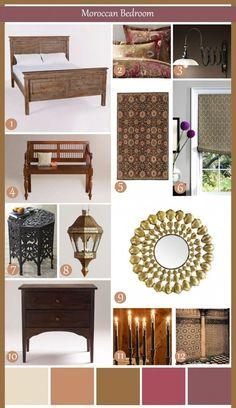 Decor elements to Moroccan Design.