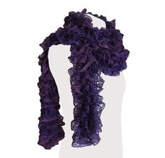 Hey, I found this really awesome Etsy listing at https://www.etsy.com/il-en/listing/176369118/handmade-ruffle-scarf-purple-metallic