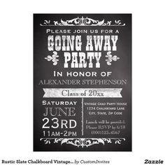 printable vintage chalkboard farewell party invitation vintage