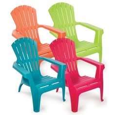 All-Weather Adirondack Chairs, Old Time Pottery